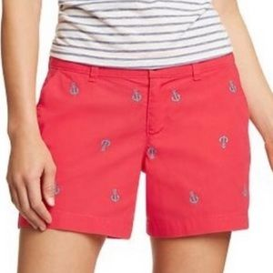 Old Navy pink red coral blue anchor shorts 2